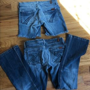 7 for all mankind dojo short and flynt bootcut